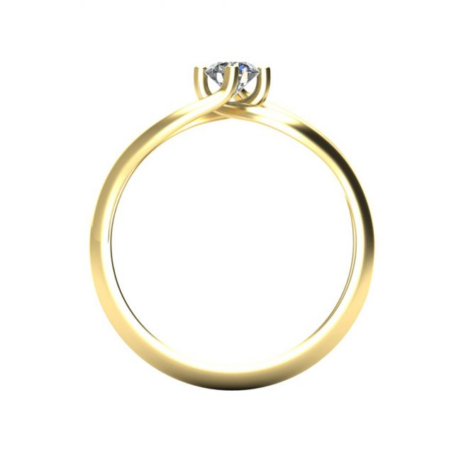 Verlovingsring_marlies_Through Finger_Yellow_Gold_14kt_Diamond
