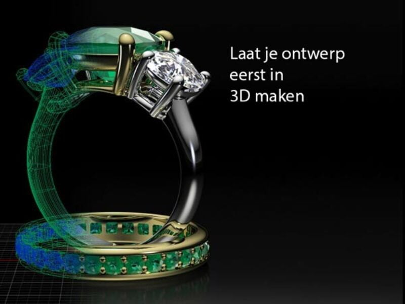 verloving-ring-bestellen-diamanten-3D-model