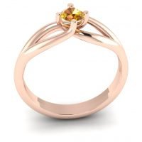 Verlovingsring marlies 025 rendering shop_Perspective_White Matte_Rose Gold_Sapphire Yellow